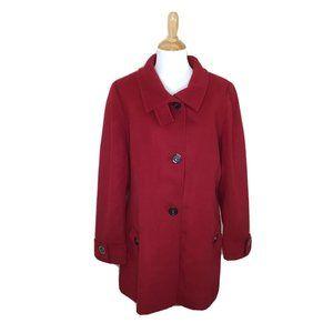 Kristen Blake Women's Red Australian Wool Peacoat